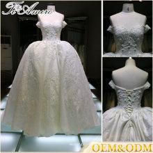 Fabricação de vestidos fora do ombro Vestido de noite com uma linha de vestido de baile feminino