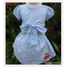 Frock Baby Design Kinder Sommerkleid Baumwolle Röcke mit Schleife