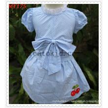 Платье Детское дизайн дети летнее платье хлопок юбки с бантом