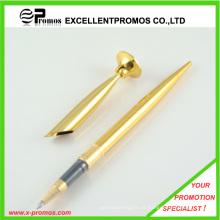 Promocionais de luxo escritório metal ouro desk desk stand conjunto (EP-P9044)