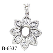 Fashion Jewelry 925 Sterling Silver Pendant Without Center Stone