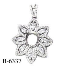 Ювелирные Изделия Стерлингового Серебра 925 Кулон Без Камня Центр