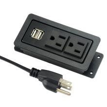 Tomadas duplas dos EUA com USB e CAP