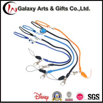 Polyester Plastic Zipper Lanyard with ID Card