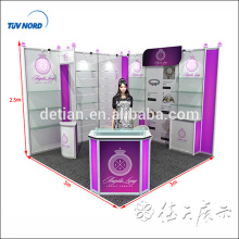 design & customize reusable and portable Simple structural fabrics trade show booth design / fabric show