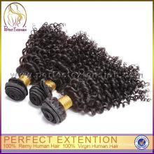 Couleur naturelle crépus bouclés non transformés en gros mongole cheveux vierges