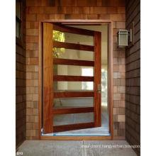 Modern Solid Wood Single Front Entry Shaker Lite Pivot Door