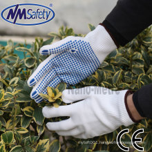 NMSAFETY polycotton knitted worker gloves with CE certification