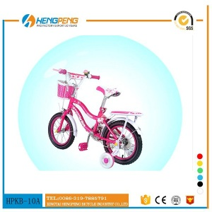 Colorful 14 inch girl kids bike