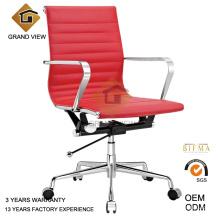 Silla de ruedas de oficina moderna de cuero rojo (GV-EA117-5)