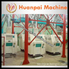 Chinese corn grits mill machine