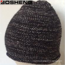 Kundenspezifische warme dunklere Farben stricken Winter-Beanie-Hüte