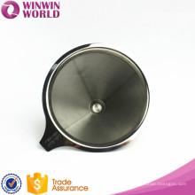 2 copos de parede dupla de aço inoxidável 18 8 material de filtro de café por gotejamento