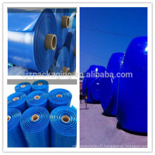 Transmetteur 250 micron blanc bleu Film enroulable en polyéthylène