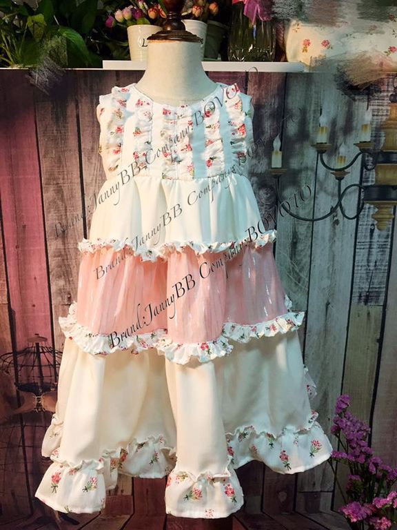 Kids girls doll cake dress