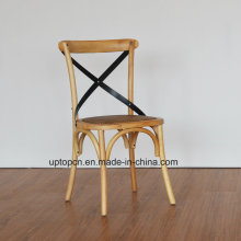 (SP-EC140) Cadeiras de restaurante francesas X Cross Back Chair Wood Cafe à venda