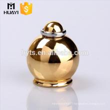 most popular gold zamac perfume bottle metal lid