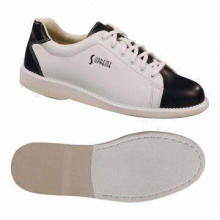 Unisex bowling shoes with soft man made uppers