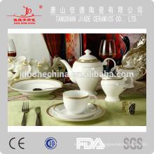 Alemania diseño único taza de porcelana y platillo musulmán café y tetera establece