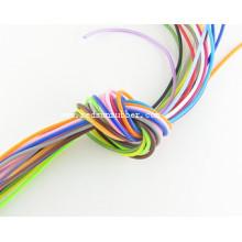 Cabo colorido de borracha de silicone de 2 mm