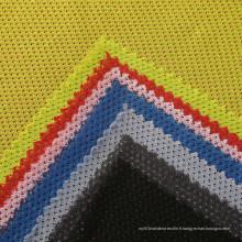 Tissu tricot polyester polyester à faible élasticité