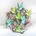 Schöne Handwerk Metall Vogel Garten Wand Dekoration