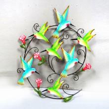 Decoração de parede de pássaro vibrante