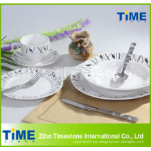 Sistema de la cena de la porcelana de la etiqueta 20PCS