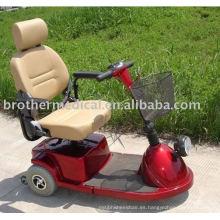 Scooter de la rueda del rojo de tres ruedas del deporte