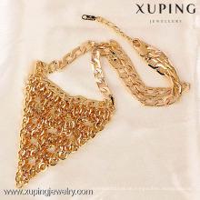 41238-Xuping Hochzeit Gold Halskette Designs, Großhandel Choker Halskette, 18 Karat Gold Damen Hochzeit Halskette