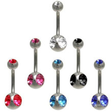 body navel belly ring navel piercing stone belly bar