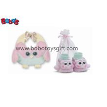 Plüsch Soft Pink Owl Baby Lätzchen und Booties Geschenk Set Bosw1112