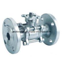 Válvula de bola con brida de diámetro reducido, de tres piezas