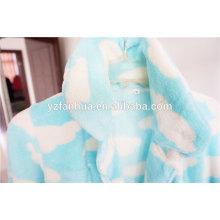Bio-weiche Fleece blau Frauen Schlafanzug