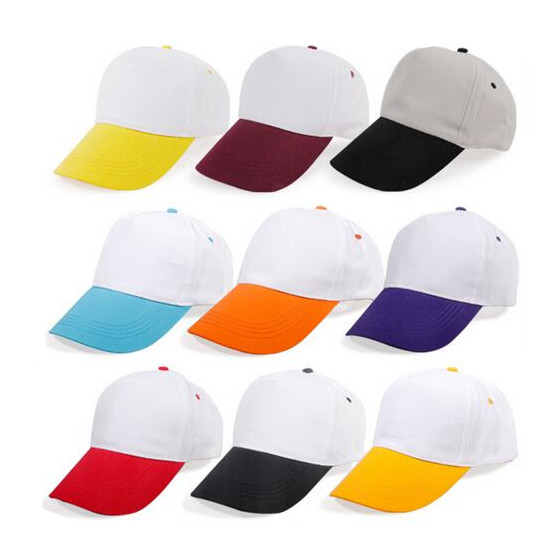 2 Color Five Panel Polyester Promotional Cap