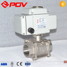 stainless steel motorized electric ball valve