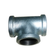 15-20mm 90 degree hot galvanized cast iron tee
