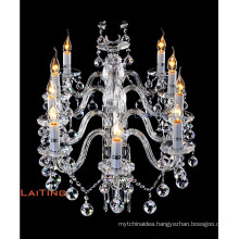 New products contemporary glass candle chandelier pendant lighting 81029