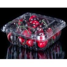 Boîte d'emballage en plastique à clapet pour cerises