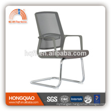 CV-B206BSG-1 chrome metal base fixed nylon armrest visitor chair office chair