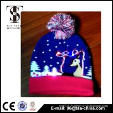 2015 Nouveau design en acrylique tricoté à la mode des enfants Led Light Hat