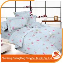 Tecido de folha de cama de pequena flor com preço barato