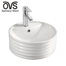ovs popular design white color round wash basin