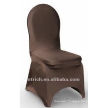 couverture de chaise de banquet chocolat, couverture de chaise de lycra, CTS797 brun, adapté pour toutes les chaises