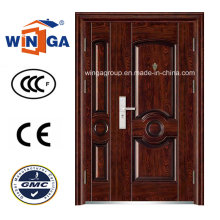 Puerta de acero resistente de la seguridad de la entrada de la venta popular (W-SZ-04)