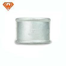 acoplamento de soquete de ferro fundido maleável galvanizado / preto