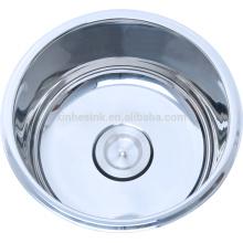 Pia redonda ou oval da bacia de aço inoxidável de serviço público para o banheiro e o lavabos