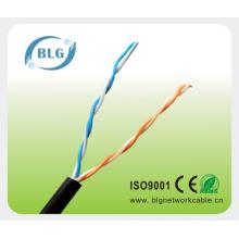 Câble téléphonique extérieur Black PE 2PR 0,5MM Cuivre nu