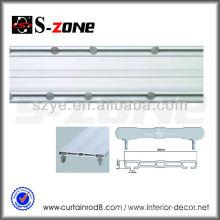 SDC02 PVC de plástico doble techo cortina de la pista de tren de cortina