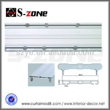SDC02 Rail en PVC à double plafond rideau rideau rail